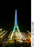 Купить «Tour Eiffel at night», фото № 28832848, снято 19 июля 2013 г. (c) Сурикова Ирина / Фотобанк Лори