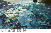 Купить «shards of broken glass on floor», видеоролик № 28833164, снято 5 июля 2018 г. (c) Syda Productions / Фотобанк Лори