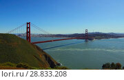 Купить «view of golden gate bridge over san francisco bay», видеоролик № 28833208, снято 9 июля 2018 г. (c) Syda Productions / Фотобанк Лори
