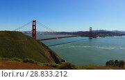 Купить «view of golden gate bridge over san francisco bay», видеоролик № 28833212, снято 9 июля 2018 г. (c) Syda Productions / Фотобанк Лори
