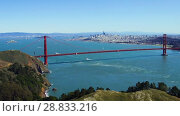 Купить «view of golden gate bridge over san francisco bay», видеоролик № 28833216, снято 9 июля 2018 г. (c) Syda Productions / Фотобанк Лори