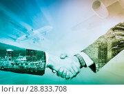 Купить «Handshake in business trip», фото № 28833708, снято 16 октября 2018 г. (c) Яков Филимонов / Фотобанк Лори