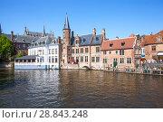 Купить «Живописный исторический центр города с каналом. Брюгге. Бельгия», фото № 28843248, снято 6 мая 2018 г. (c) Сергей Афанасьев / Фотобанк Лори