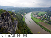 Bastei rocks in Saxon Switzerland, Germany (2014 год). Стоковое фото, фотограф Куликов Константин / Фотобанк Лори