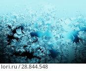 Купить «Frosty pattern on winter window», фото № 28844548, снято 18 августа 2018 г. (c) ElenArt / Фотобанк Лори