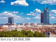 Купить «La Part-Dieu business district of Lyon, France», фото № 28868396, снято 14 июля 2017 г. (c) Сергей Новиков / Фотобанк Лори