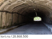 Купить «The light at the end of a gloomy dark tunnel», фото № 28868500, снято 19 июня 2018 г. (c) Евгений Ткачёв / Фотобанк Лори