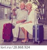 Купить «Mature spouses enjoying joint vacation», фото № 28868924, снято 27 августа 2017 г. (c) Яков Филимонов / Фотобанк Лори