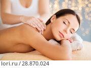 Купить «close up of beautiful woman having massage at spa», фото № 28870024, снято 25 июля 2013 г. (c) Syda Productions / Фотобанк Лори