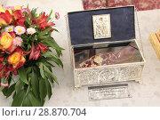 Купить «Башмачок Святителя Спиридона епископа Тримифунтского чудотворца», эксклюзивное фото № 28870704, снято 28 мая 2018 г. (c) Дмитрий Неумоин / Фотобанк Лори