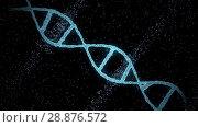 Купить «virtual dna molecule over black background», видеоролик № 28876572, снято 14 июня 2018 г. (c) Syda Productions / Фотобанк Лори