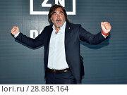 Sports journalist Pierluigi Pardo during the presentation, Milan, ITALY-02-08-2018. Редакционное фото, фотограф Flavio Lo Scalzo / AGF/Flavio Lo Scalzo / AGF / age Fotostock / Фотобанк Лори