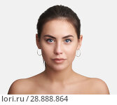 Купить «pretty young woman face. Isolated», фото № 28888864, снято 24 июня 2018 г. (c) Александр Лычагин / Фотобанк Лори