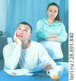 Купить «Couple struggling to pay bills», фото № 28891840, снято 18 марта 2017 г. (c) Яков Филимонов / Фотобанк Лори