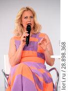 Купить «Barbara Schoeneberger during a beauty talk at the Beauty Fair at Duesseldorf Messe. Featuring: Barbara Schoeneberger Where: Duesseldorf, Germany When: 02 Apr 2017 Credit: WENN.com», фото № 28898368, снято 2 апреля 2017 г. (c) age Fotostock / Фотобанк Лори