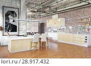Купить «modern loft.», фото № 28917432, снято 20 октября 2018 г. (c) Виктор Застольский / Фотобанк Лори