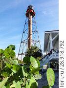 Florida, Sanibel Island, Lighthouse, Sanibel Island Light Point Ybel Light, Стоковое фото, фотограф Jeff Greenberg / age Fotostock / Фотобанк Лори