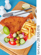 Купить «crispy fried flounder in a breadcrumbs», фото № 28926016, снято 30 июля 2018 г. (c) Oksana Zh / Фотобанк Лори