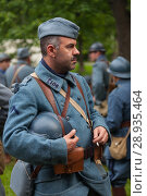 Купить «RUSSIA, MOSCOW - JUNE 9, 2017: Soldiers of the 106 regiment France of First World War. Moscow historical festival Times and Epochs», фото № 28935464, снято 9 июня 2017 г. (c) Виталий Батанов / Фотобанк Лори
