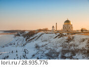 Купить «Bolgar Historical and Archaeological Complex. View of complex in winter at dawn», фото № 28935776, снято 6 января 2018 г. (c) Юлия Бабкина / Фотобанк Лори