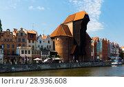 Купить «Image of embankment in historical part of Gdansk at sunny day, Poland», фото № 28936608, снято 12 мая 2018 г. (c) Яков Филимонов / Фотобанк Лори