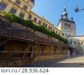 Купить «Clock tower in Sighisoara», фото № 28936624, снято 16 сентября 2017 г. (c) Яков Филимонов / Фотобанк Лори