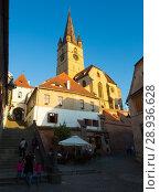 Купить «Cathedral in Sibiu», фото № 28936628, снято 16 сентября 2017 г. (c) Яков Филимонов / Фотобанк Лори