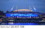 Купить «Санкт-Петербург. Зенит Арена», эксклюзивный видеоролик № 28937188, снято 7 июля 2018 г. (c) Литвяк Игорь / Фотобанк Лори
