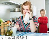 Купить «offended woman and child», фото № 28937948, снято 14 августа 2018 г. (c) Яков Филимонов / Фотобанк Лори