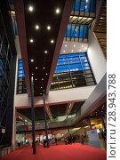 Купить «Entrance area at Messe Frankfurt», фото № 28943788, снято 12 февраля 2017 г. (c) Caro Photoagency / Фотобанк Лори