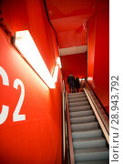 Купить «Escalator in a parking garage of the Frankfurt Messe», фото № 28943792, снято 12 февраля 2017 г. (c) Caro Photoagency / Фотобанк Лори