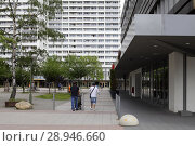 Купить «Berlin, Germany, prefabricated buildings on Anton-Saefkow-Platz in Berlin-Fennpfuhl», фото № 28946660, снято 19 июня 2016 г. (c) Caro Photoagency / Фотобанк Лори