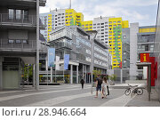 Berlin, Germany, shopping arcade Storkower Bogen in Storkower Strasse in Berlin-Fennpfuhl (2016 год). Редакционное фото, агентство Caro Photoagency / Фотобанк Лори