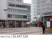 Berlin, Germany, business center Storkower Bogen in Storkower Strasse in Berlin-Fennpfuhl (2017 год). Редакционное фото, агентство Caro Photoagency / Фотобанк Лори