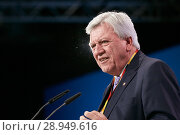 Berlin, Germany - Volker Bouffier gives a speech at the 30th Federal Party Congress of the CDU. (2018 год). Редакционное фото, агентство Caro Photoagency / Фотобанк Лори