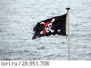 Купить «London, Great Britain, pirate flag», фото № 28951708, снято 27 мая 2017 г. (c) Caro Photoagency / Фотобанк Лори