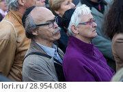 Berlin, Germany - Solidarity rally in Berlin under the motto Berlin bears Kippa. (2018 год). Редакционное фото, агентство Caro Photoagency / Фотобанк Лори
