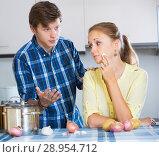 Купить «man and frustrated housewife having bad argument», фото № 28954712, снято 23 сентября 2015 г. (c) Яков Филимонов / Фотобанк Лори