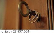 Купить «Gold Wedding Rings on the furniture key macro closeup shoot diamon Jewellery», видеоролик № 28957004, снято 9 августа 2018 г. (c) Aleksejs Bergmanis / Фотобанк Лори