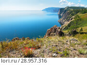 Купить «Lake Baikal in the summer. Rocky coast of Olkhon Island in August afternoon», фото № 28957316, снято 21 августа 2010 г. (c) Виктория Катьянова / Фотобанк Лори