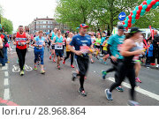 Купить «Thousands of runners take part in the London Marathon. Tim Farron MP and Simon Hughes supporting the runners in the London Marathon. Featuring: Atmosphere...», фото № 28968864, снято 23 апреля 2017 г. (c) age Fotostock / Фотобанк Лори