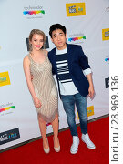 Jade Pettyjohn and Lance Kim attending the premiere of 'The Black... (2017 год). Редакционное фото, фотограф Guillermo Proano / WENN.com / age Fotostock / Фотобанк Лори