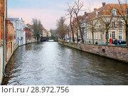Купить «Бельгия. Каналы Брюгге.», фото № 28972756, снято 23 февраля 2013 г. (c) Галина Савина / Фотобанк Лори
