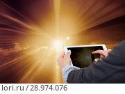 Купить «Female hands with tablet in sunlight», фото № 28974076, снято 5 мая 2013 г. (c) Яков Филимонов / Фотобанк Лори