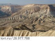 Amazing views of Ein Avdat and Zin Valley. Negev, desert and semidesert region of southern Israel (2018 год). Стоковое фото, фотограф Валерия Попова / Фотобанк Лори