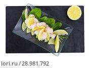 Купить «Freshly prepared merluza ceviche», фото № 28981792, снято 18 сентября 2018 г. (c) Яков Филимонов / Фотобанк Лори