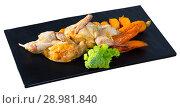 Купить «Teriyaki partridge with grilled carrots», фото № 28981840, снято 22 марта 2019 г. (c) Яков Филимонов / Фотобанк Лори