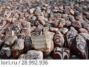 Купить «Тибет. Буддистские молитвы - камни с мантрами и ритуальными рисунками на тропе по ходу коры из города Дорчен вокруг горы Кайлас», фото № 28992936, снято 18 июня 2018 г. (c) Овчинникова Ирина / Фотобанк Лори