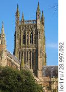 Купить «Worcester Cathedral, Worcester, England, Europe.», фото № 28997092, снято 13 февраля 2017 г. (c) age Fotostock / Фотобанк Лори