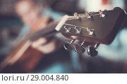 Купить «Illustration of acoustic guitar», фото № 29004840, снято 18 сентября 2017 г. (c) Яков Филимонов / Фотобанк Лори